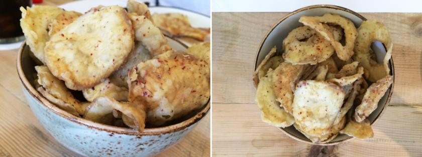 Chips de alcachofa. Favoritos.